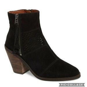 Lucky brand ramses black Suede booties 6.5